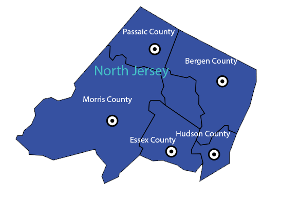 North Jersey Map